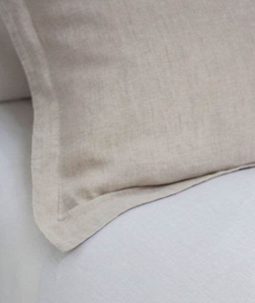 Picardie Ecru Linen Pillowcase