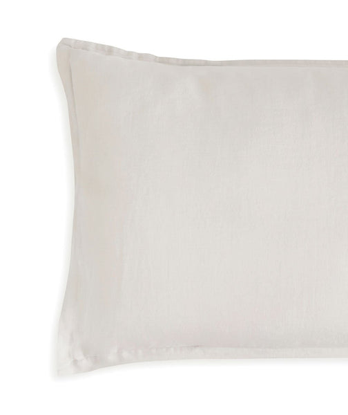 Picardie Ecru Linen Pillowcase - The Linen Works (217443139594)