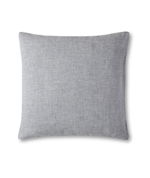 Navy Small Criss-Cross Linen Cushion Cover Lario Collection - The Linen Works