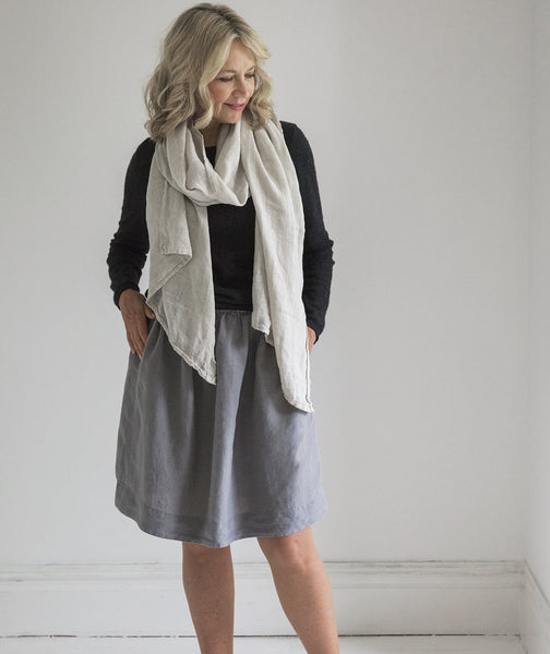 Charcoal Linen Skirt - The Linen Works (217242927114)
