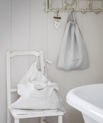 White Linen Laundry Bag - The Linen Works (217868828682)