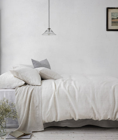 Stripe Linen Duvet Cover Lario Collection - The Linen Works