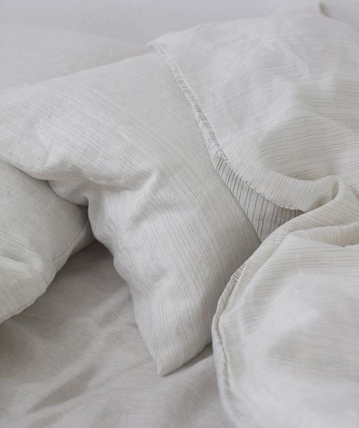 Stripe Linen Duvet Cover Lario Collection - The Linen Works (217540689930)