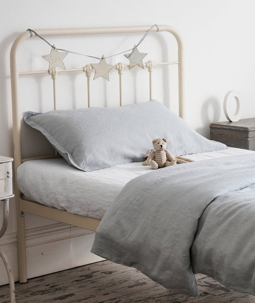 Moustier Duck Egg Linen Pillowcase - The Linen Works