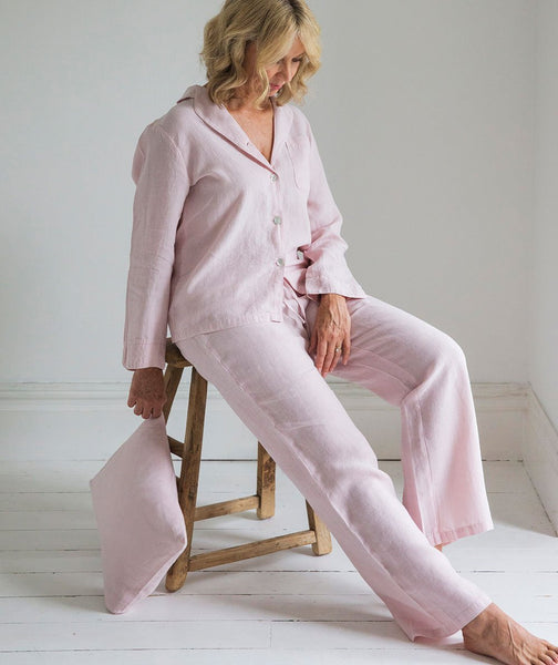 Rose Linen Pyjamas - The Linen Works