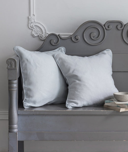 Duck Egg Linen Cushion Cover - The Linen Works