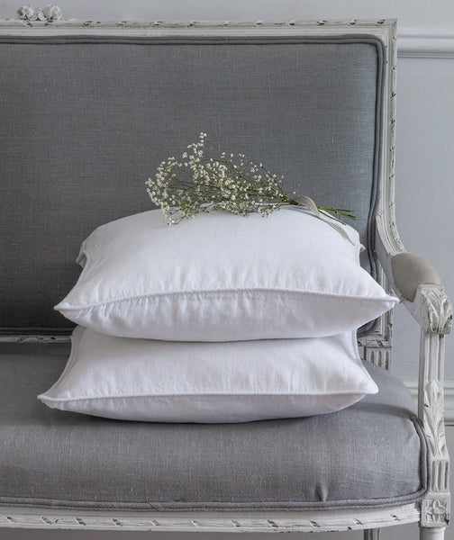 White Linen Cushion Cover - The Linen Works (249073008650)