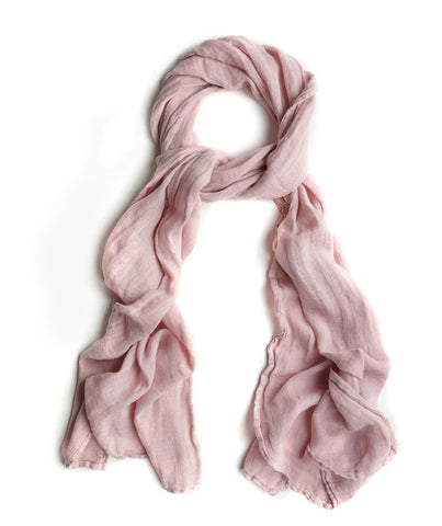 Dusty Pink Linen Scarf Thick