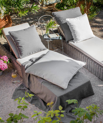 Charcoal Linen Cushion Cover - The Linen Works (249281314826)