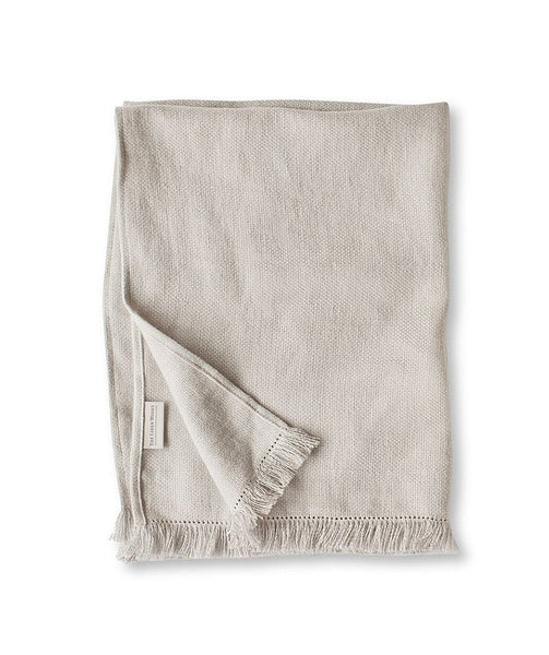 Chalk Fringe Linen Hand Towel - The Linen Works (248134238218)