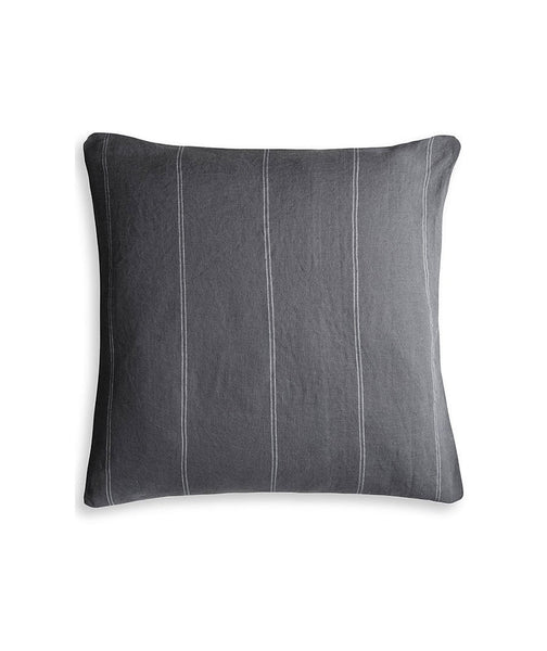 Steel Linen Cushion Cover Italian Stripe Collection - The Linen Works (4458872504397)