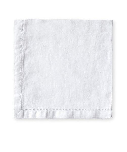 White Linen Napkin Hemstitch Collection - The Linen Works (4460219629645)