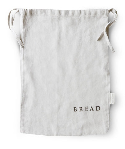 Dove Grey Linen Bread Bag
