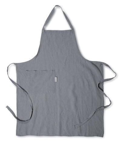 Charcoal Linen Apron - The Linen Works (217258721290)