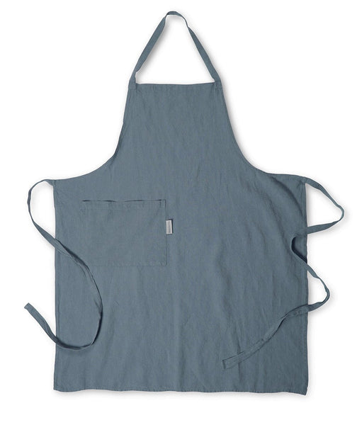 Parisian Blue Linen Apron - The Linen Works (217266683914)