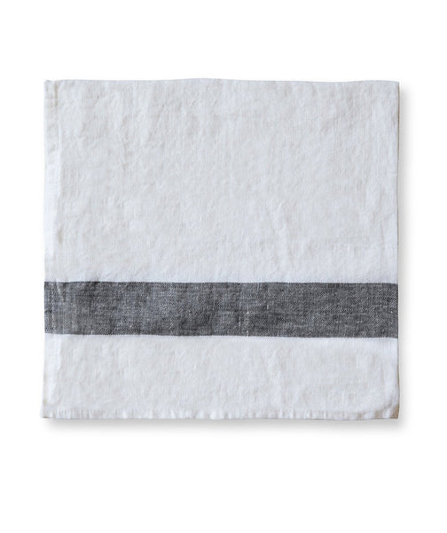Charcoal Stripe Linen Napkin Arles Collection - The Linen Works (217286836234)