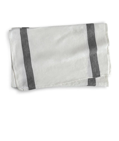 Charcoal Stripe Linen Table Runner Arles Collection - The Linen Works (217681756170)