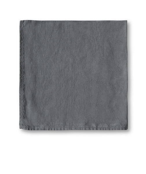 Charcoal Linen Napkin - The Linen Works