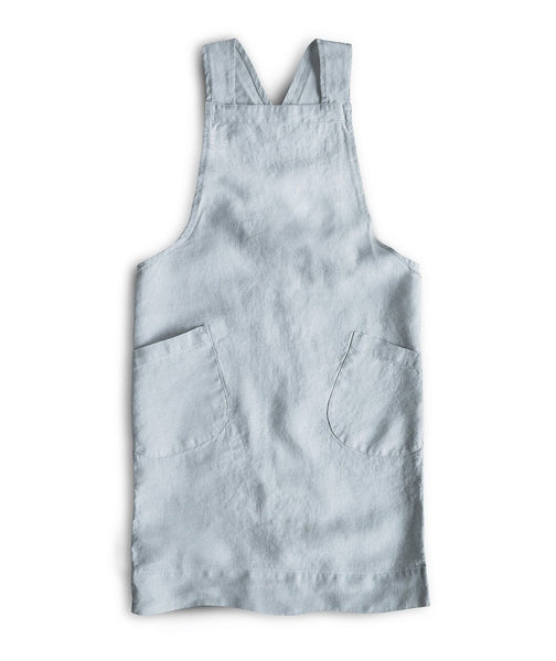 Duck Egg Linen Children's Cross Over Apron - The Linen Works (217453264906)