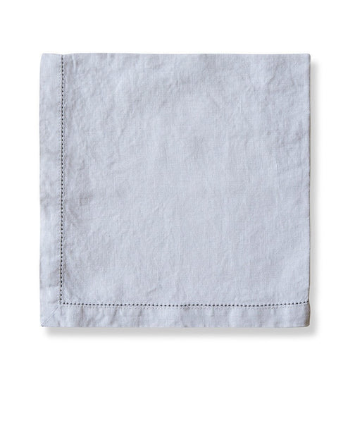 Dove Grey Linen Napkin Hemstitch Collection - The Linen Works (217341558794)