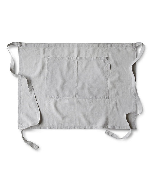Dove Grey Linen Half Apron - The Linen Works (217322520586)