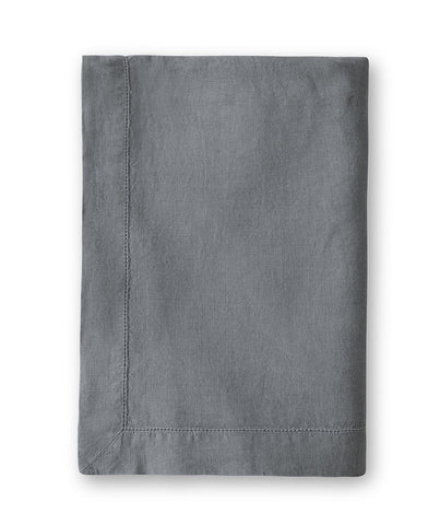 Charcoal Linen Tablecloth Hemstitch Collection - The Linen Works (4460218056781)