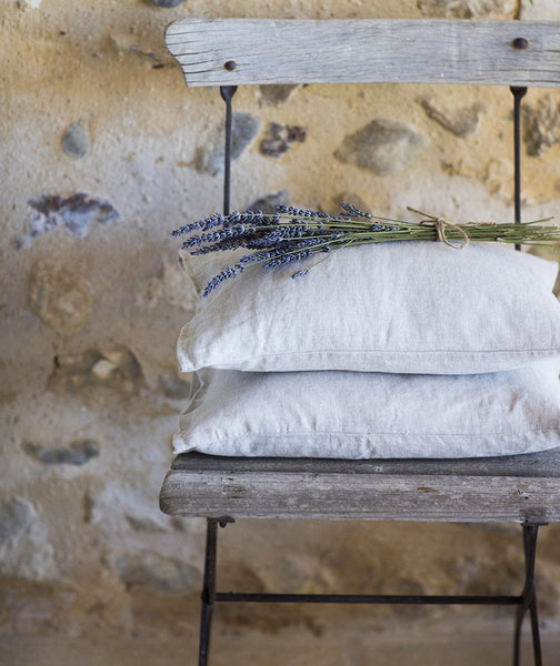 Ecru Linen Mini Cushion Cover - The Linen Works