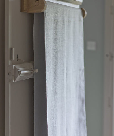 Pale Grey Linen Roller Towel - The Linen Works (217739722762)