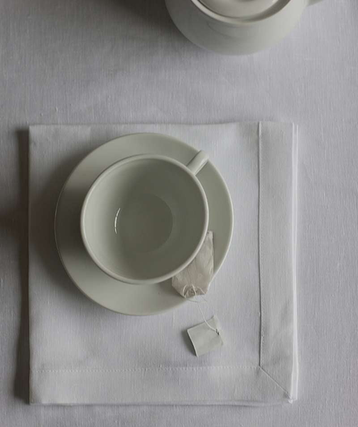 White Linen Tablecloth Mitered Hem Collection - The Linen Works (260731666442)