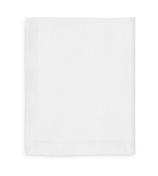 White Linen Tablecloth Mitered Hem Collection - The Linen Works