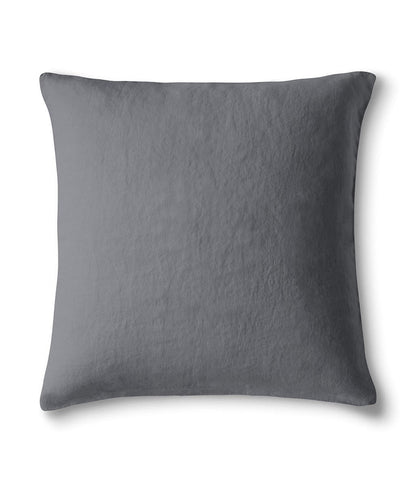 Lens Charcoal Linen Pillowcase Square - The Linen Works (4463618588749)
