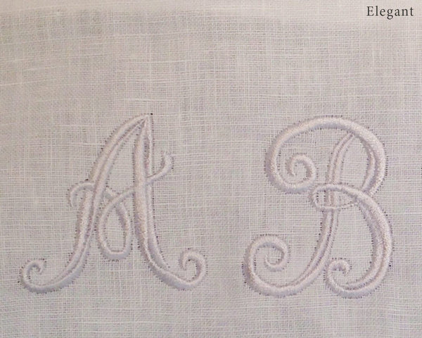 Monogramming - The Linen Works (11902881226)