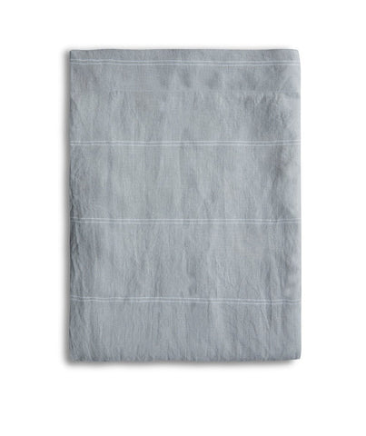 Vintage Grey Linen Tablecloth Italian Stripe Collection - The Linen Works (4458746871885)