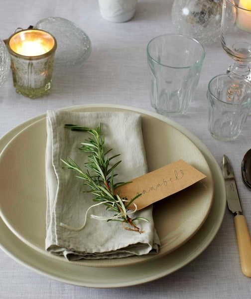 Dove Grey Linen Napkin - The Linen Works