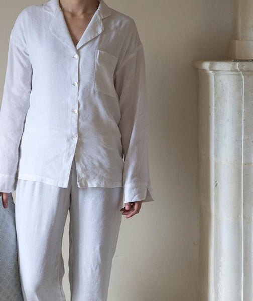 White Linen Pyjamas - The Linen Works