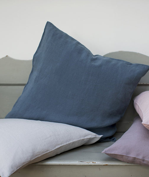 Parisian Blue Linen Cushion Cover - The Linen Works