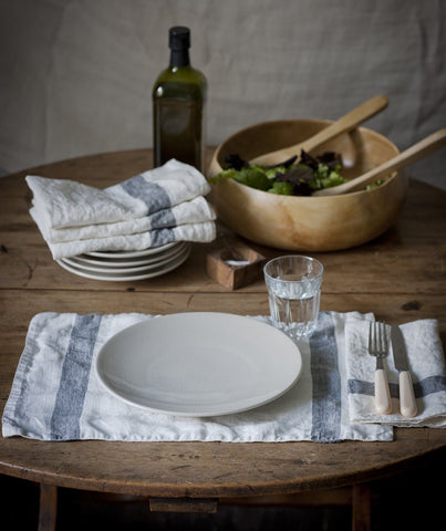 Charcoal Stripe Linen Placemat Arles Collection - The Linen Works (217335595018)