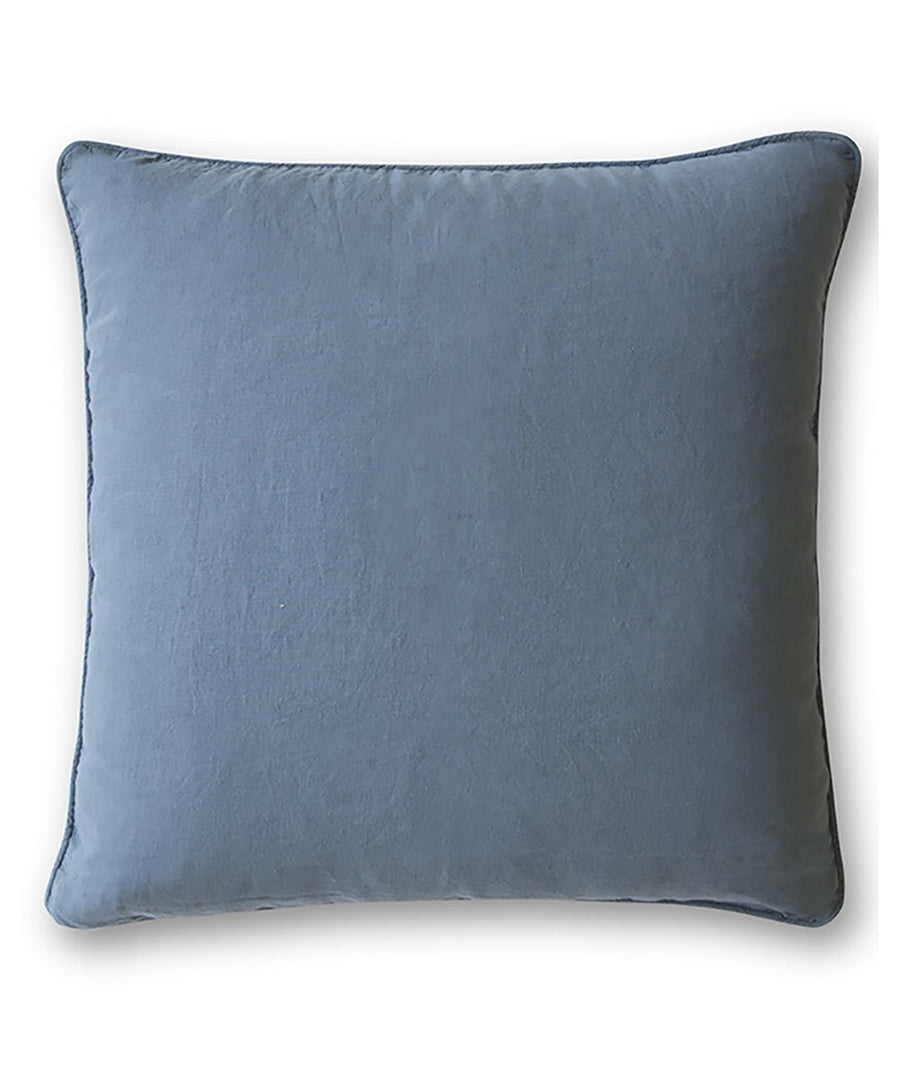 Parisian Blue Linen Cushion Cover The Linen Works London