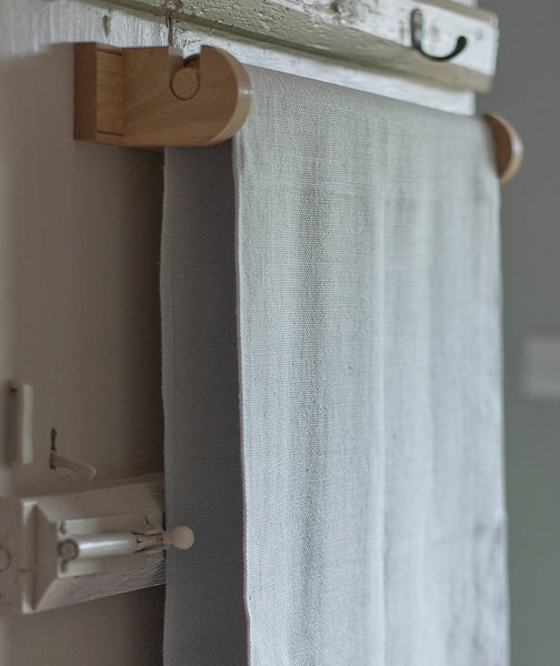 Oak Roller Towel Rail - The Linen Works (6903097351)