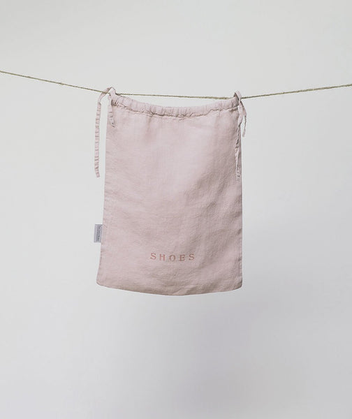 Rose Linen Shoe Bag - The Linen Works (217894125578)