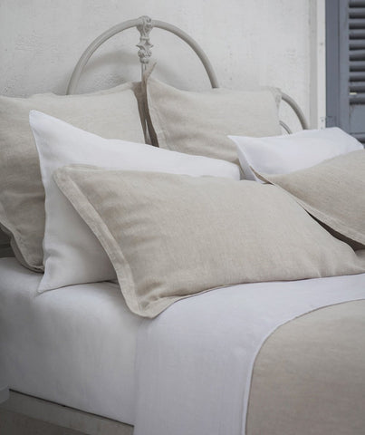Picardie Ecru Linen Pillowcase - The Linen Works