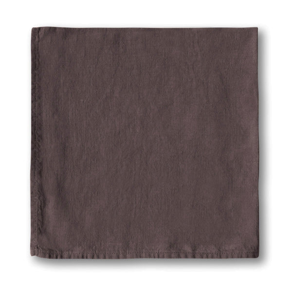 Aubergine Linen Napkin - The Linen Works