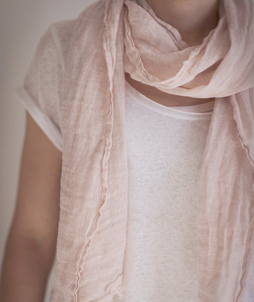 Cherry Blossom Linen Scarf Spring - The Linen Works (217702268938)