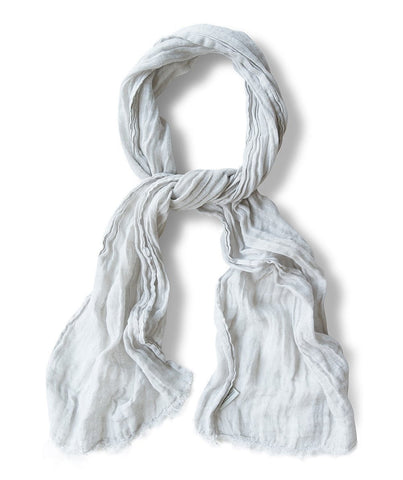 Silver Dust Linen Scarf Spring - The Linen Works (217722486794)