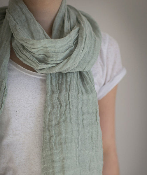 Meadow Linen Scarf Spring - The Linen Works (217717571594)