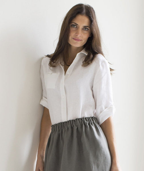 White Linen Shirt - The Linen Works (248139841546)