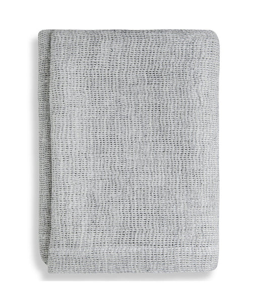 Silver Soft Jacquard Linen Throw - The Linen Works (249592905738)