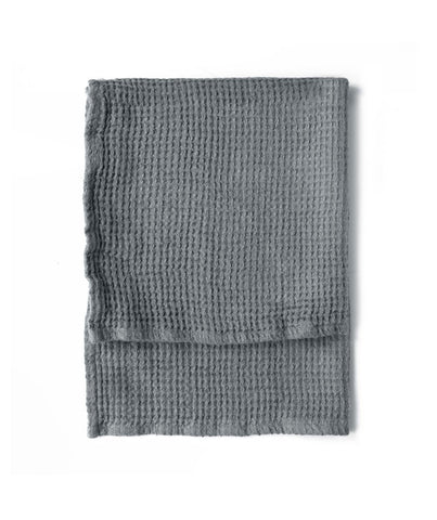 Charcoal Linen Waffle Hand Towel - The Linen Works