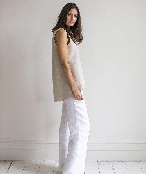 Flax Linen Button Top - The Linen Works (217396805642)