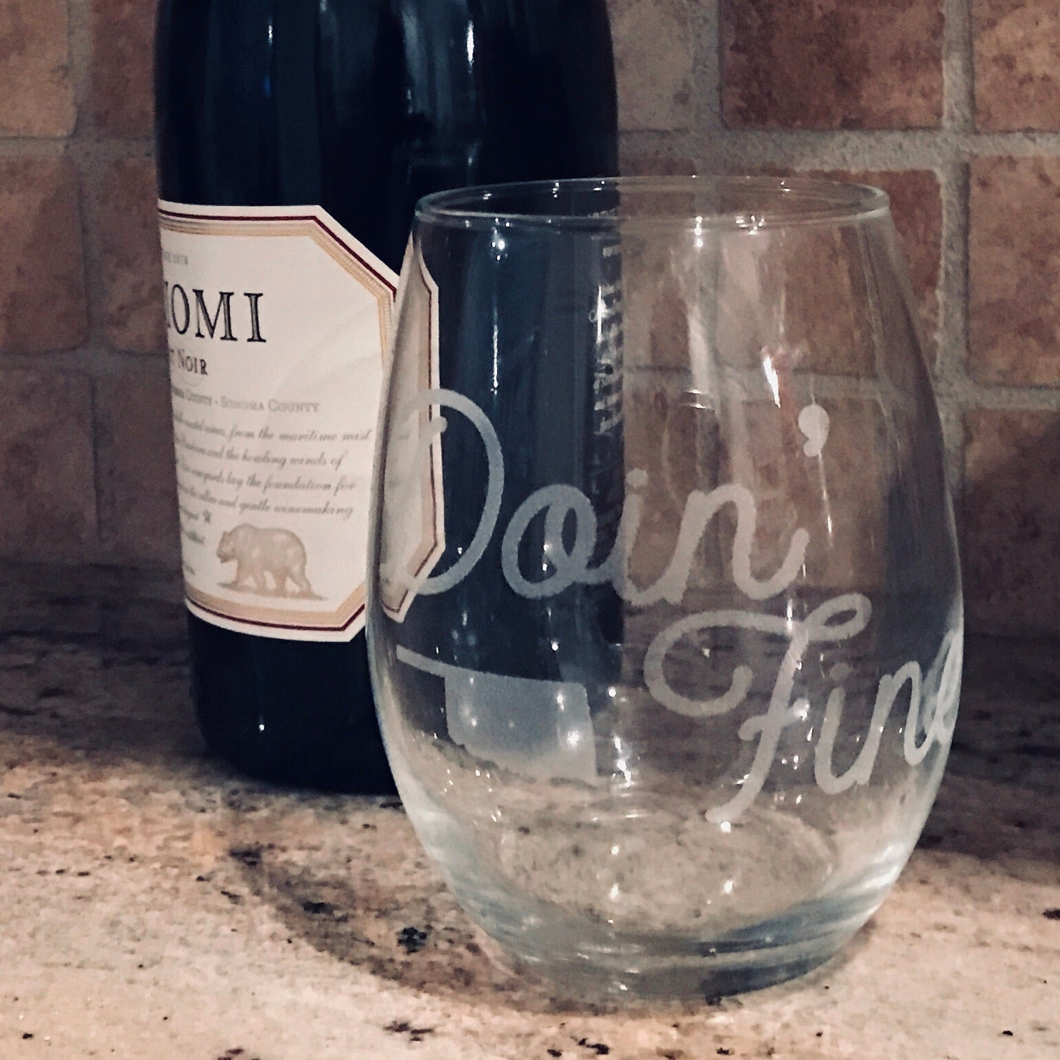 Stemless Wine Glasses | Custom